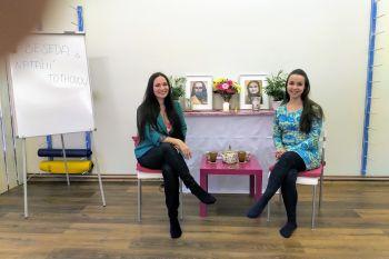 Památeční fotka s Natálkou před zahájením besedy :-)